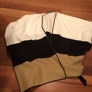 Ann Taylor belted sweater cape